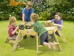 Wooden Octagonal Activity Table