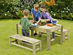 Wooden Activity Table & Benches